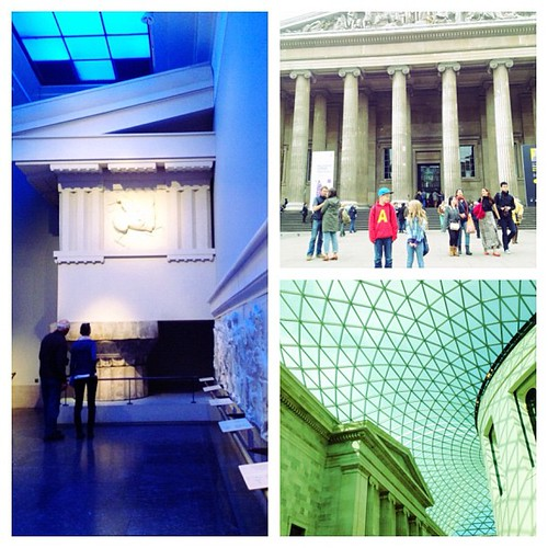 Wow! The @britishmuseum is amazing! So glad we went there today. #London