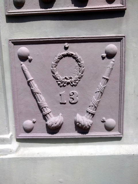 Number 13, artillery tomb, St Louis Cemetary, New Orleans, Lousiana, USA