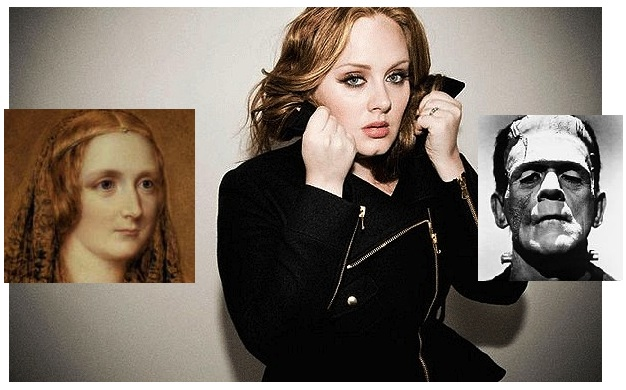 Adele with Mary Shelley and Frankenstein