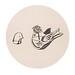 18.玻璃鳥22X22 cm‧紙凹版collagraphs‧版數1-10‧2012