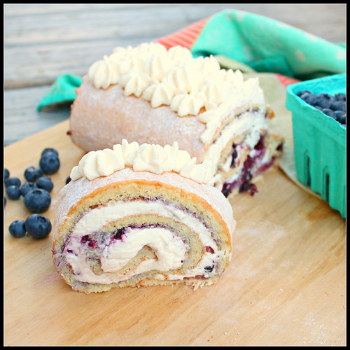 Blueberry Roulade
