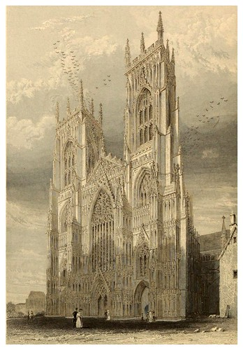 004-Catedral de York vista frontal-Winkles's architectural and picturesque illustrations of the catedral..1836-Benjamin Winkles