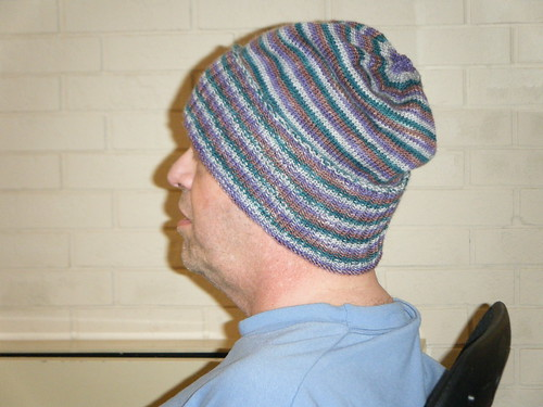 Sockhead with ribbing folded back