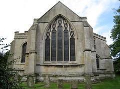 The east window, the Church of St John the Baptist, Barnack, Cambridgeshire