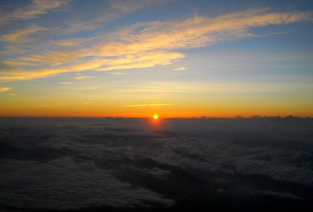 Sunrise from Mt Fuji