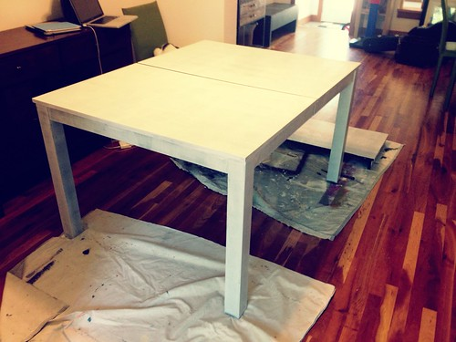 dining table: primed
