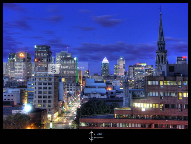 Montreal Downtown at Dawn HDR  [ Getty Images ]