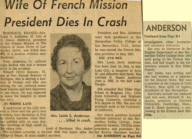 Ogden Standard-Examiner obituary