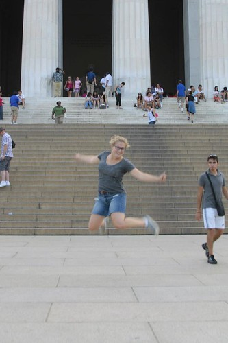 jumping in D.C.