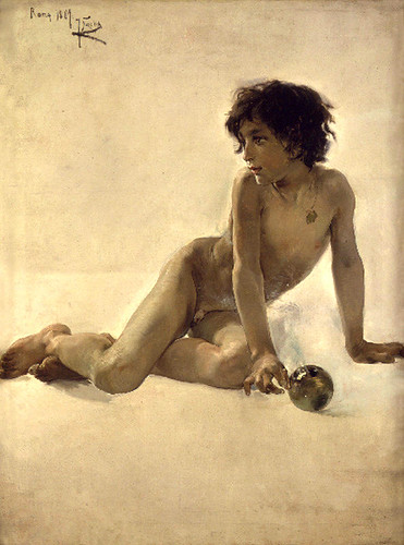 Sorolla y Bastida, Joaquin  (Spanish, 1863-1923)  - Boy with a Ball  - 1887