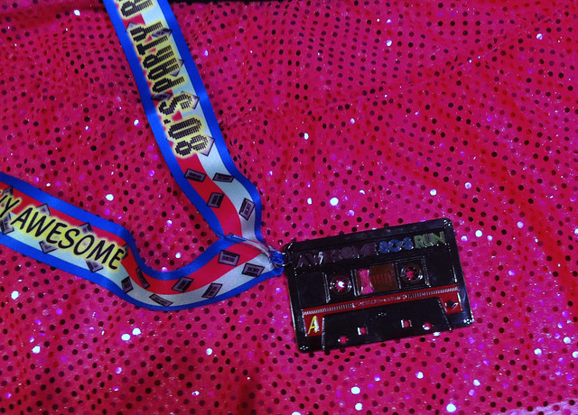 Team Sparkle Skirt and Awesome 80's Run Medal