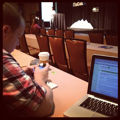 Hanging with Adam Baker (and 398 other financial bloggers) at Fincon 2012.