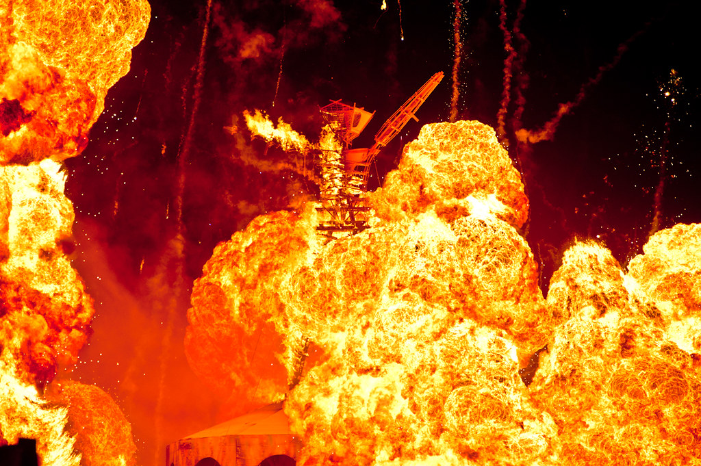 Burning Man 2012 - Explosion