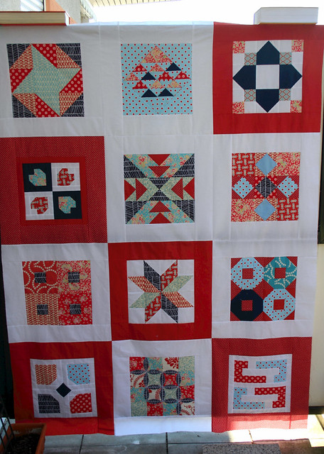 fatQ quilt outside