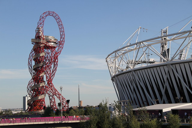 The Orbit and the Olympic Stadium