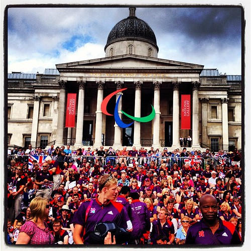 Looks like all the Olympic gamesmakers are in trafalgar square.
