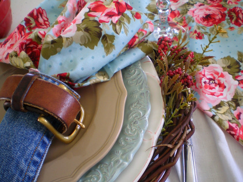 denim tablescape ideas