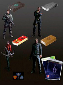 Resident Evil 6 Leather Jacket Edition, Tablet Case Edition, DSO T-shirt Edition; E-Store Exclusives