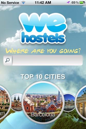 WeHostels app