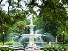 Forsyth Park in Savannah (Georgia, USA 2012)