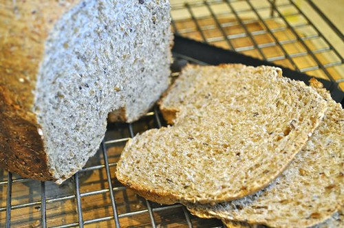 whole-grain brea in a machine feature