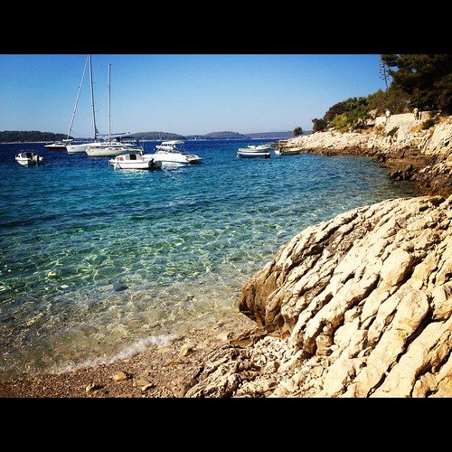 View of my morning snorkel in Hvar