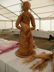 One of Helen Moran's wonderful corn dolly creations