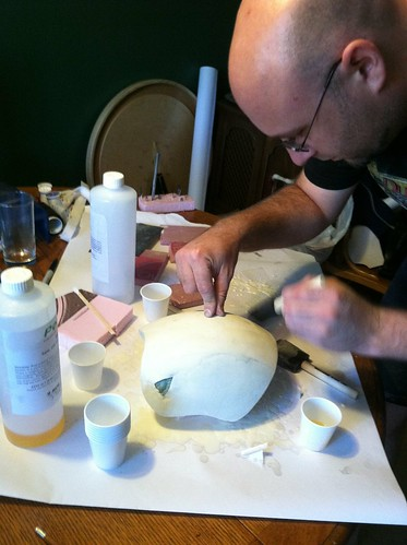 Sculpting the form for the mask