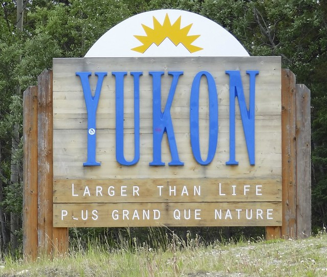 Welcome Yukon Sign