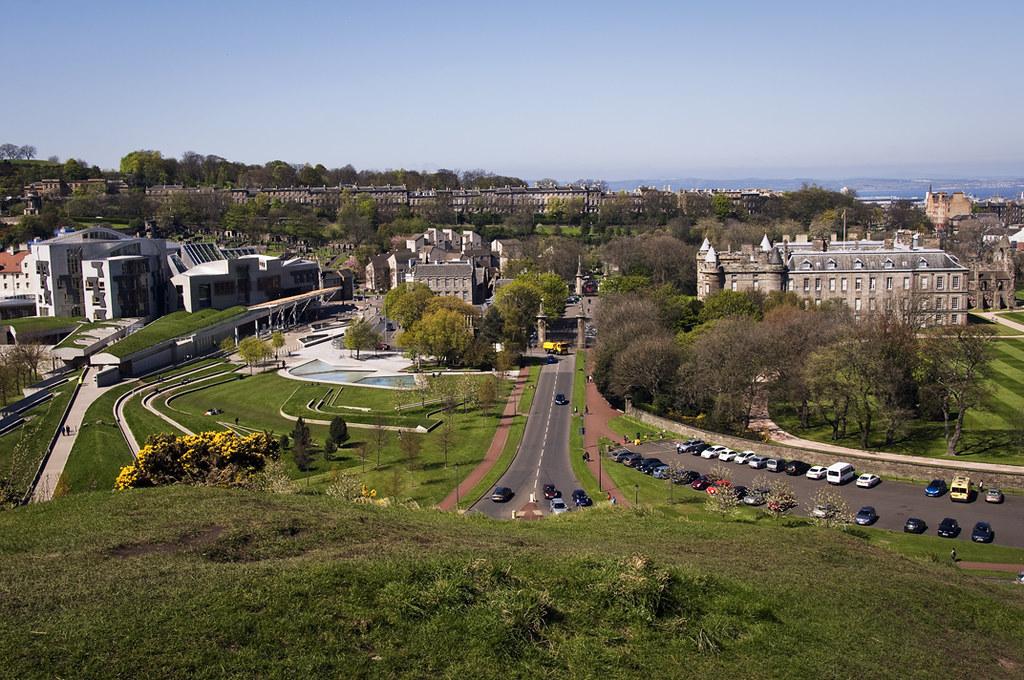 Holyrood Palace from Holyrood Park
