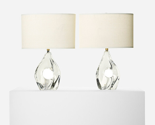 Daum, Table Lamps, 1950, Lot 248