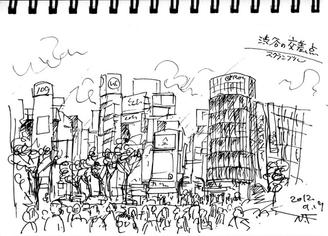 渋谷のスクランブク交差点