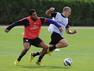Andre Santos and Jack Wilshere