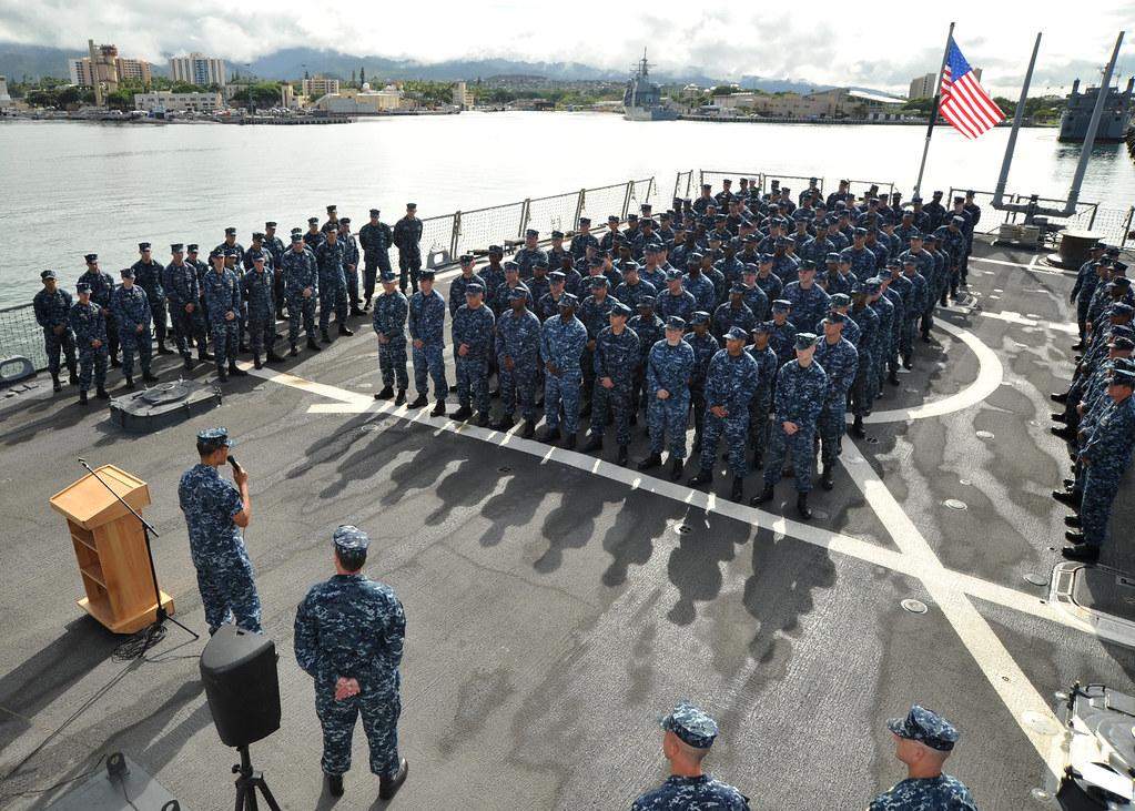USS Paul Hamilton Sailors