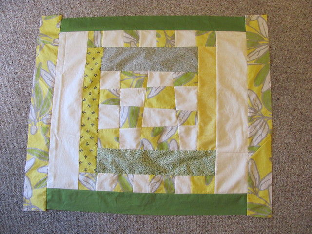 Yellow & Green Baby Quilt