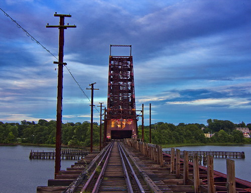 railroad bridge vintage skyscape landscapes afternoon urbandecay traintracks tracks providence rhodeisland urbanexploration drawbridge railways urbanlife providenceri cloudformations landscapephotography rhodeislandhistoricalsociety littlerhody googleplus donnastpierre rhodeislandicon