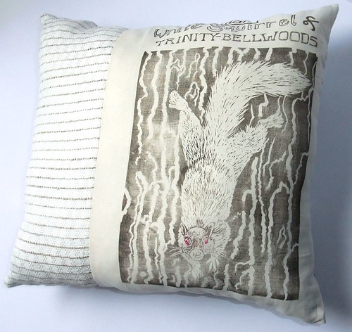 white squirrel pillow