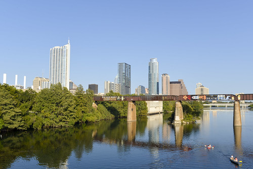 Austin skyline on a Sunday afternoon