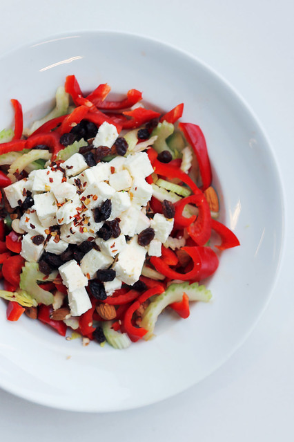 Feta, Red Pepper and Celery