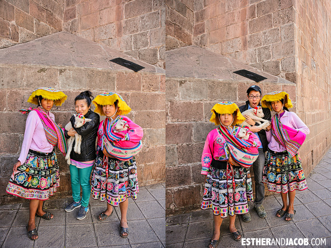 Pictures with baby lambs | What to do in Cusco | Peru Travel Photographer