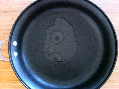 Tablespoon of Olive Oil in Large Skillet