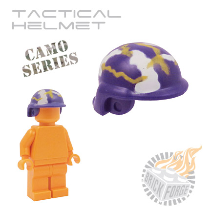 Tactical Helmet - Dark Purple (camouflage)