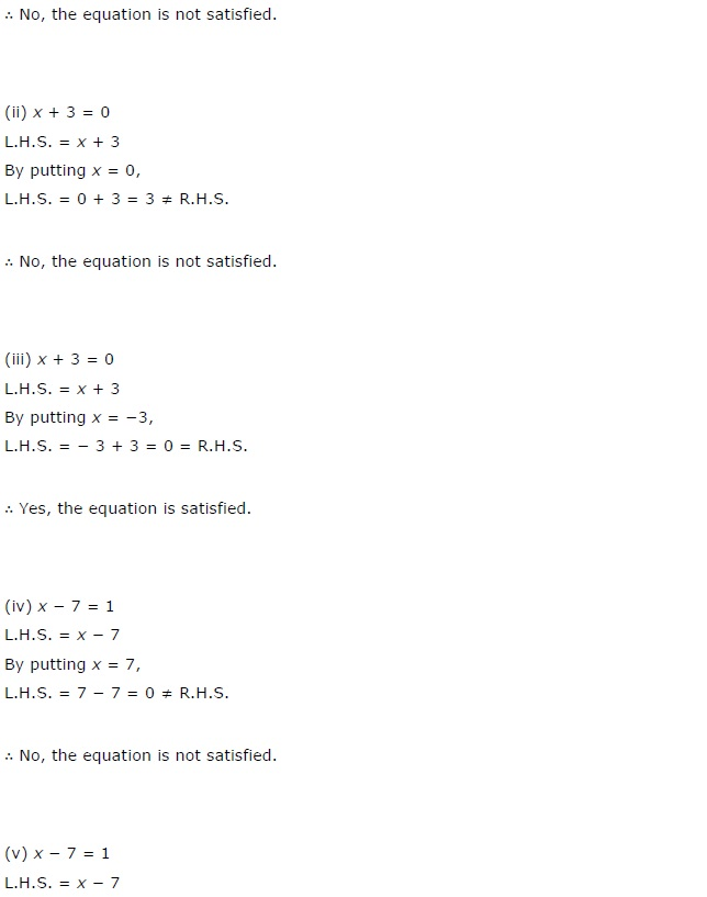 NCERT Solutions for Class 7 Maths Chapter 4 Simple Equations Exercise 4.1