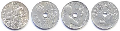 25 céntimos 1925 - 1937: Anverso