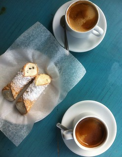 Coffee and Cannoli for two