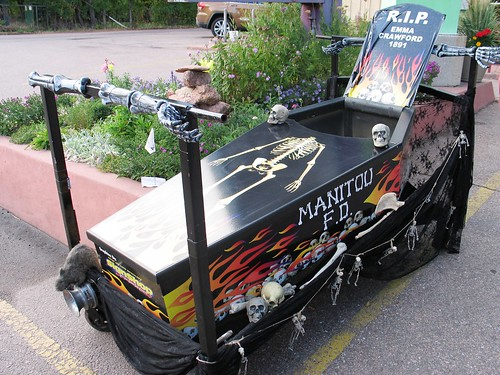 manitou springs - coffin races - haunted