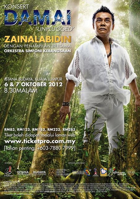 Konsert Zainal Abidin Damai Unplugged di Istana Budaya
