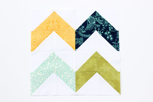 Half-Square Triangle Block of the Month October Quilt Block Tutorial - In Color Order