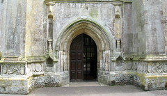 The west front doorway (late 15th C.), the Church of St Peter and St Paul, Swaffham, Norfolk
