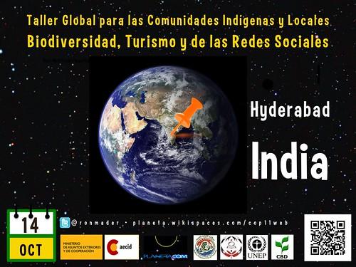 Taller Global para las Comunidades Indígenas y Locales Biodiversidad, Turismo y de las Redes Sociales (Poster #3) #rtyear2012 #cop2012 #cop11